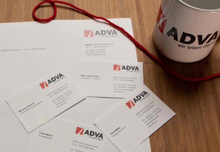 ADVA Kompetenzen Corporate Design